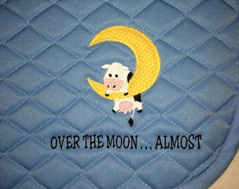 Over the Moon Custom English Embroidered Horse Saddle Pad - All Purpose, Pony or Dressage