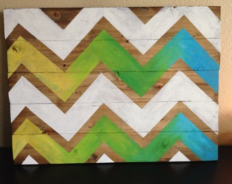 Choose your colors-Chevron Sign-Wood Sign-17x23""