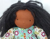 RESERVED Malu, 14 inch Nestling doll, clothing set including dress, trousers and shoes