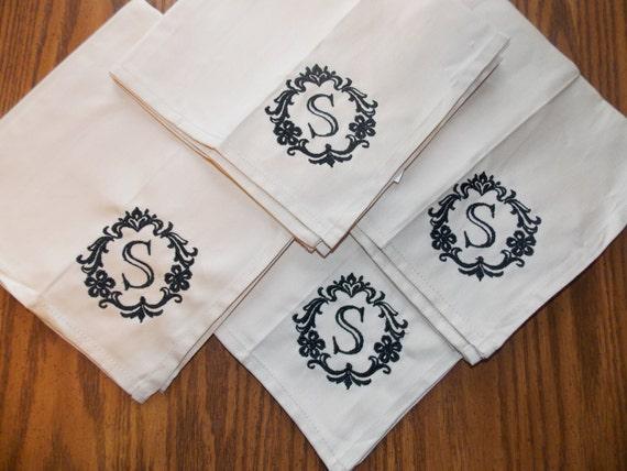 monogrammed cloth napkins personalized cloth napkins dinner