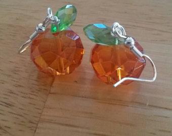 Halloween pumpkin earrings. Cute earrings