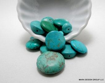 magnesite round bead soup -  17 beads