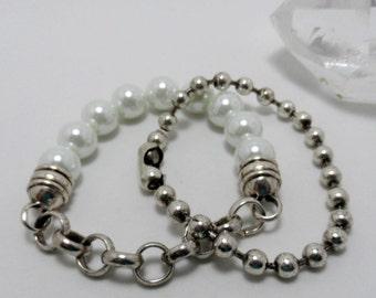 destash - metal silvertone chain bracelets, 2