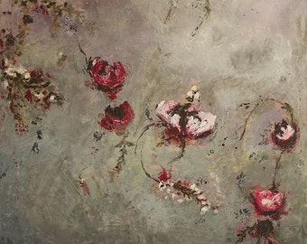 Rustic Botanical encaustic painting (1.2)