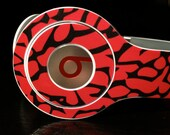 Elephant Print Black and Red Beats by Dre Solo Skin (**NOT HEADPHONES**)