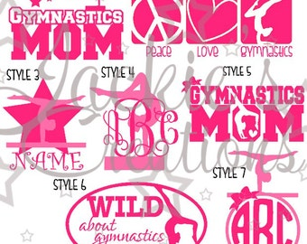 Gymnastics/Gymnastics Mom Decals