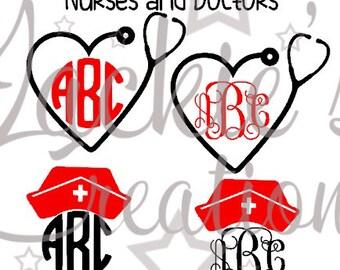Nurse/Doctor Monogram Decals