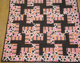 Baby Quilt Modern colors and design