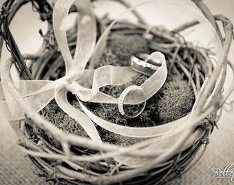 Rustic Ringbearer's Nest with Heart