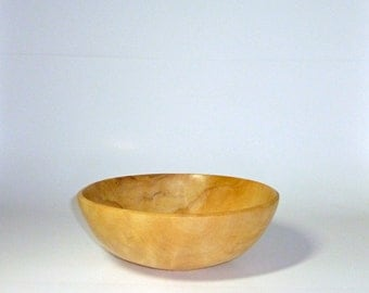 Handcrafted Wooden Sycamore Salad Bowl Hand Made Wood Bowl
