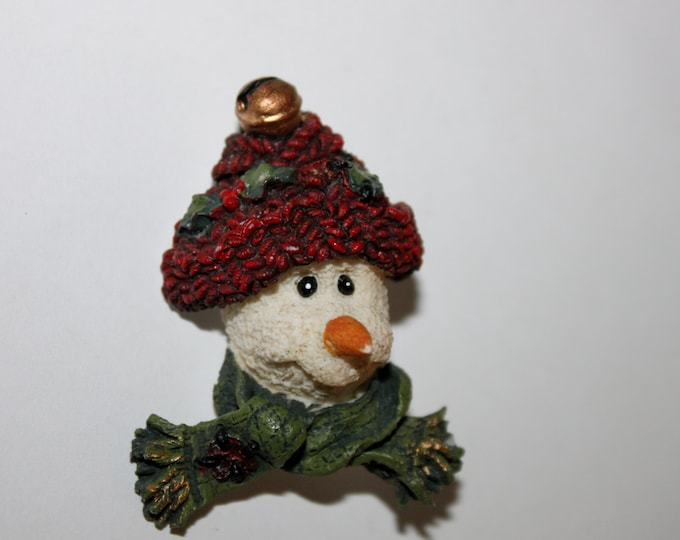Vintage Snowman Christmas Brooch