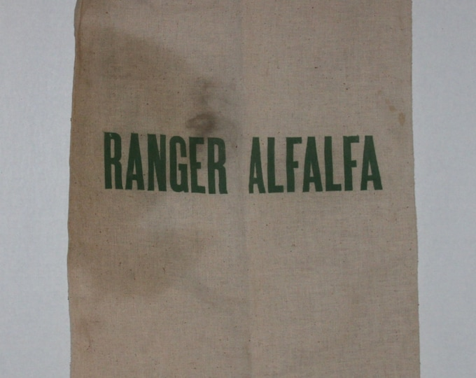 Vintage Ranger Alfalfa Sack, Cotton Feed Sack
