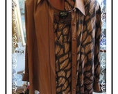 Bob Mackie Shirt/Jacket -  Awesome Stylish Vintage Bob Mackie Wearable Art Jacket w Shirt  Size 2x -CLO-154a-060114003