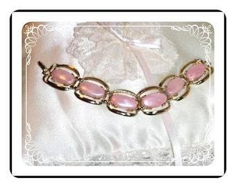 Pink Lucite Bracelet  - Pretty in Pastel   Brac-1079a-012312000