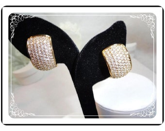 Christian Dior Earrings - Exquisite Vintage Rhinestone Clips  E525a-071812000
