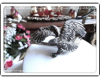 Silver Eagle Cuff  -  Awesome Vintage Bracelet   Brac-1071a-060514000