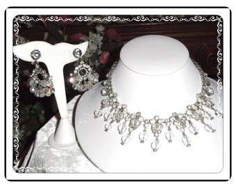 Icy D E Juliana Set -  Over the Top Delicious Dripping Icy Necklace and Earring Demi  191a-060514000