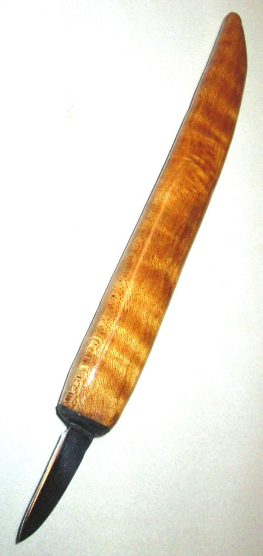 Woodcarving knife tiger stripe maple solingen steel