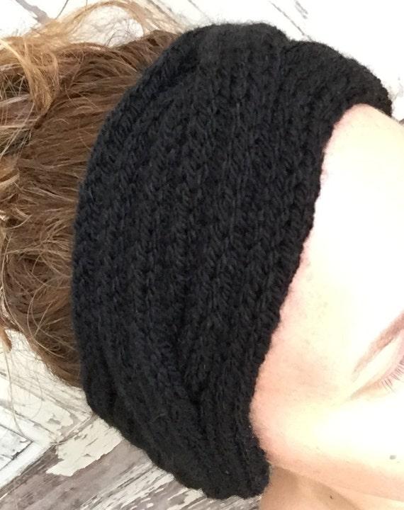 Beginner Ear Warmer Knitting Pattern : KNITTING PATTERN Cabled Rib Headband Ear Warmer Baby to ...