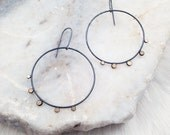 Large Dots Hoops