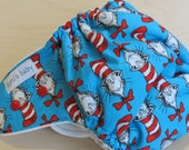 One Size Hybrid Fitted Cloth Diaper - The Cat in the Hat