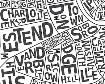 Nashville Neighborhood Print