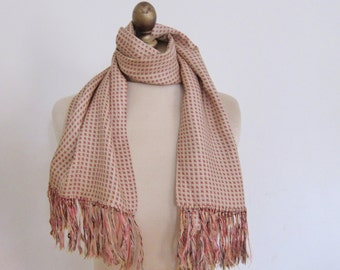 Vintage mens scarf CURRIE  1950s hand knotted