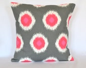 STORE CLOSING SALE Pink Grey Ikat pillow cover throw pillow accent pillow cushion cover  pillow cover decorative pillow