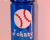 Kids Water Bottle - Baseball - Personalized