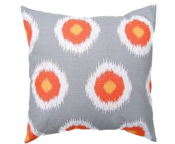 Etsy White Throw Pillow : Items similar to Gray throw pillow cover One 16
