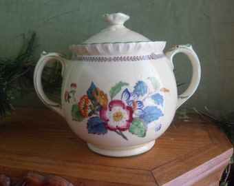 Masons Patent Ironstone China CROYSDALE England Sugar Bowl  (T)