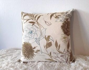 Golden Flower Pillow