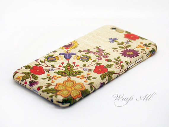 Printed Needle Work Floral iPhone SE case iPhone 6S case iPhone 6 case iPhone 6S Plus case iPhone 6 Plus case iPhone 5S case iPhone 4S case