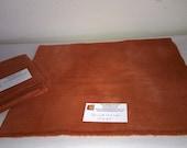 New Burnt Orange - Wool Fabric - Fat Quarter - Rug Hooking Wool