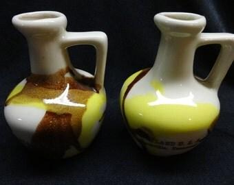 Opryland U.S.A. Souvenir Jugs Nashville Tennessee  Ceramic