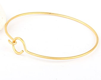 Gold Plated Bangle Bracelet, Gold Cuff Bangle, 1 piece // GFND-077