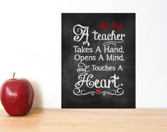 Teacher Appreciation Gift Print PDF Digital Download