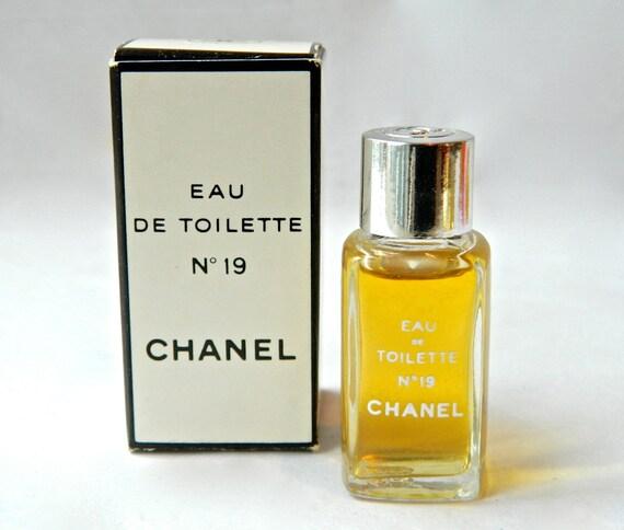 vintage chanel no 19 1 4 oz 7 5 ml perfume eau de toilette