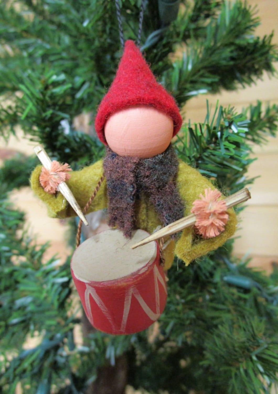 Christmas Ornament Little Drummer Boy Clothespin Ornament