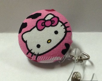 Super Cute- Hello Kitty- Retractable Badge ID Holder-RN- Registered Nurse- Surgical tech
