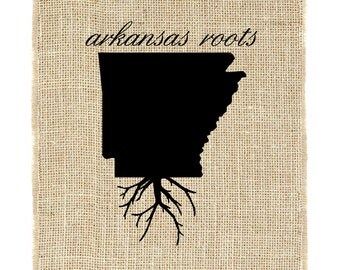 Arkansas Roots Unframed, State Roots, State Pride, Burlap Print, Wall Art, Burlap