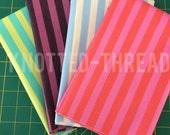 Half Yard Bundle -Tent Stripe prints of Elizabeth by Tula Pink for FreeSpirit Fabrics