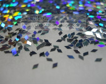 Holographic Silver 1 mm Diamond Shaped Glitter