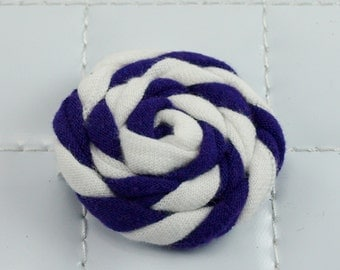 Purple and White Rosette Clip