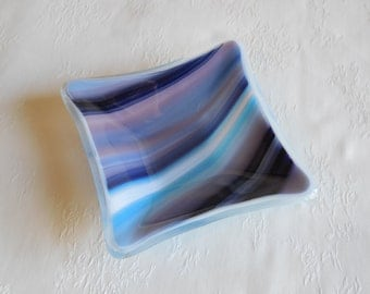 Blue and purple dish