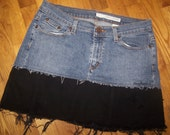 Hag Rags....Upcycled denim Hippie skirt.....Size 8.....