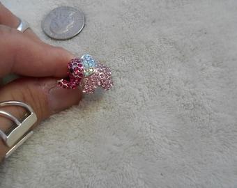 Stunning Ring-Crystal Rhinestone Pink Elephant-Adjustable - R385