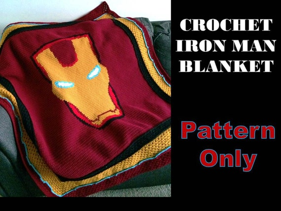 Iron Man Crochet Pattern Crochet Iron Man Blanket