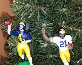 Jim Harbaugh University of Michigan football sports Christmas ornament many to choose from.
