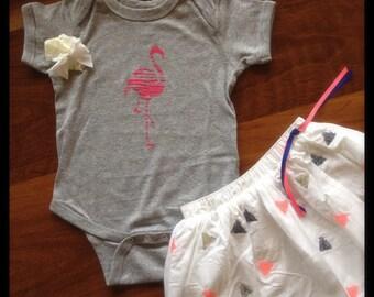 Flamingo Onesie, Pink Flamingo